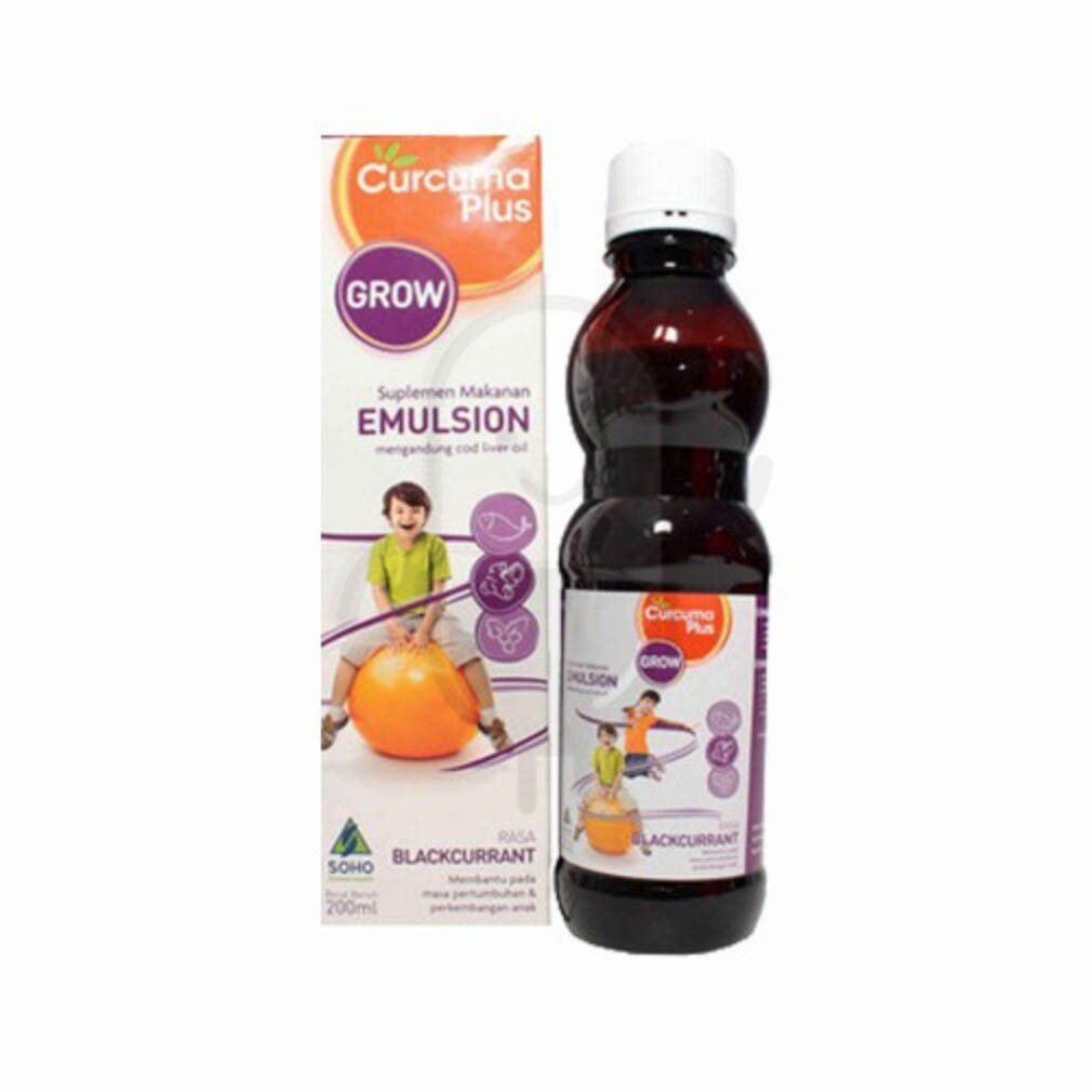 Ulasan Produk CURCUMA PLUS EMULSION GROW RASA BLACKCURRANT ...
