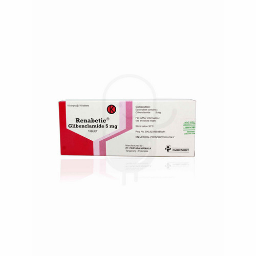 RENABETIC 5 MG TABLET BOX
