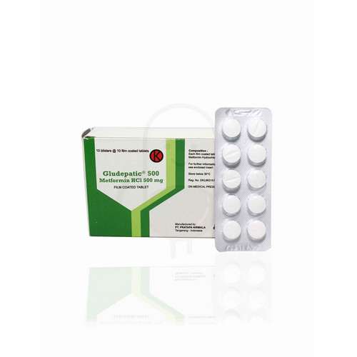 GLUDEPATIC 500 MG BLISTER 10 TABLET