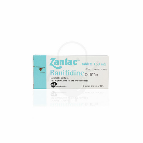 ZANTAC 150 MG TABLET BOX