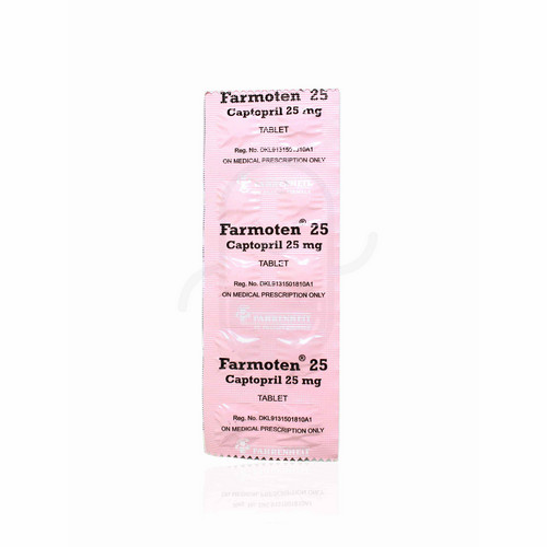 FARMOTEN 25 MG STRIP 10 TABLET