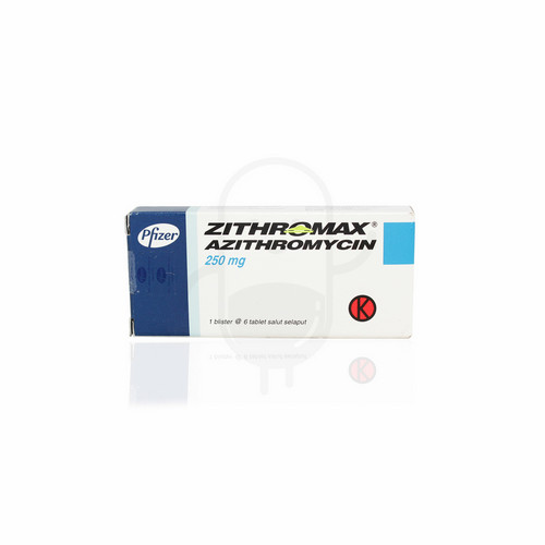 ZITHROMAX 250 MG BOX 6 TABLET