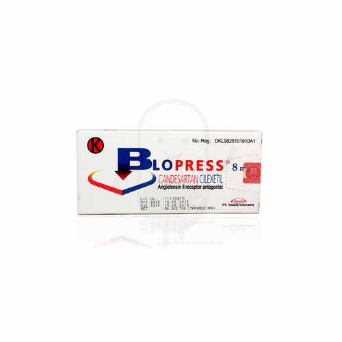BLOPRESS 8 MG TABLET BOX