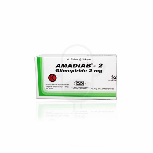 AMADIAB 2 MG KAPLET BOX