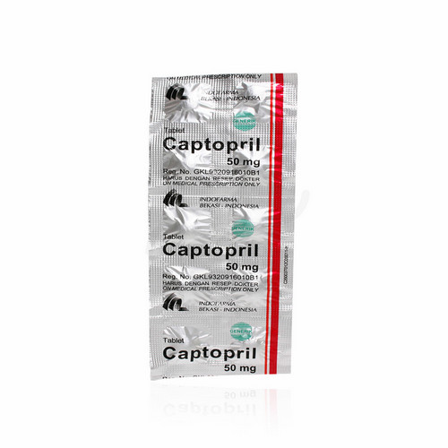 CAPTOPRIL INDOFARMA 50 MG TABLET BOX