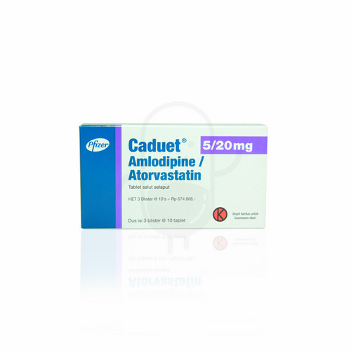 CADUET 5/20 MG TABLET STRIP