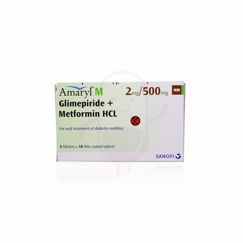 AMARYL M 2 MG/500 MG TABLET STRIP