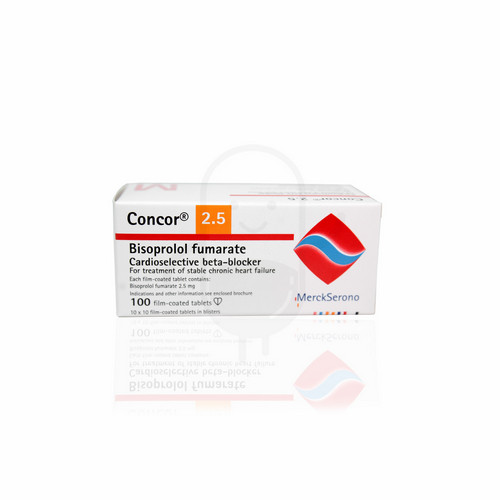 CONCOR 2.5 MG TABLET BOX