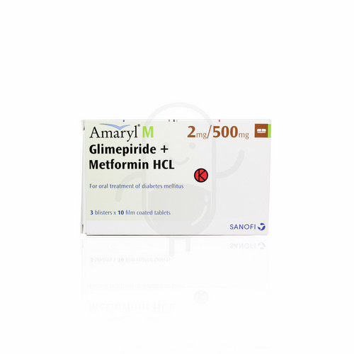AMARYL M 2 MG/500 MG TABLET