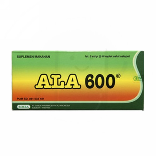 ALA 600 MG BOX 30 KAPLET