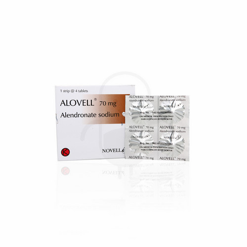 ALOVELL 70 MG TABLET BOX