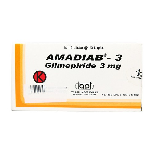 AMADIAB 3 MG KAPLET STRIP