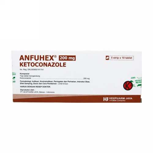 ANFUHEX 200 MG TABLET BOX