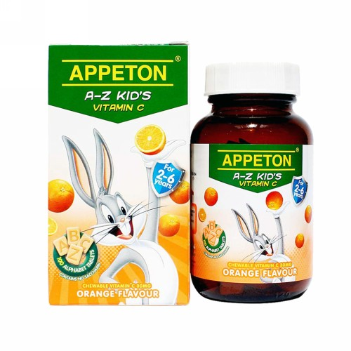 APPETON A-Z KIDS VITAMIN C RASA JERUK BOX 100 TABLET