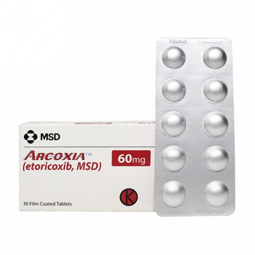 ARCOXIA 60 MG TABLET BOX