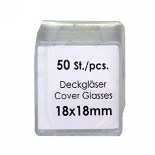 ASSISTANT COVER GLASS 18 X 18 MM BOX
