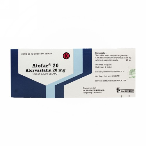 ATOFAR 20 MG TABLET STRIP