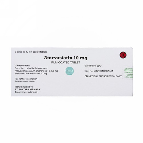 ATORVASTATIN YARINDO 10 MG TABLET BOX