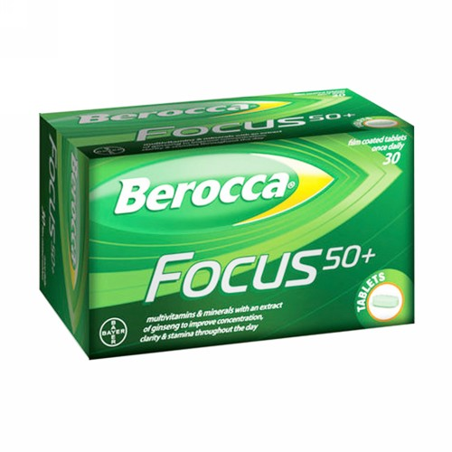 BEROCCA FILM COATED GINSENG TABLET BOX