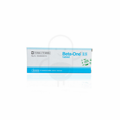 BETA ONE 2.5 MG TABLET
