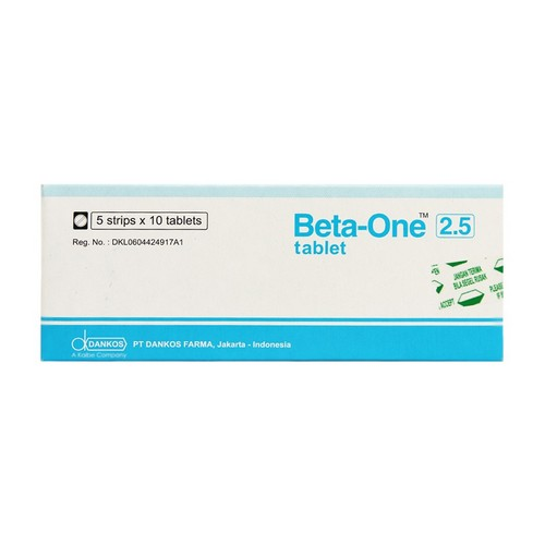 BETA ONE 2.5 MG TABLET BOX