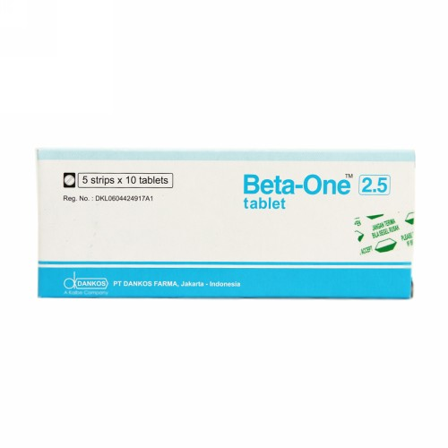 BETA ONE 2.5 MG TABLET STRIP