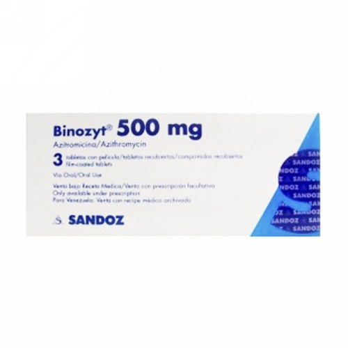 BINOZYT 500 MG TABLET BOX