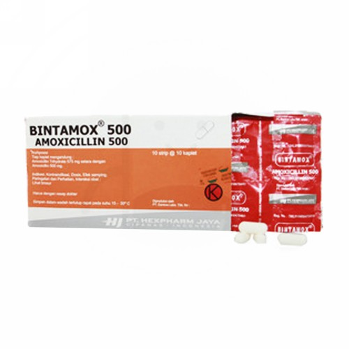 BINTAMOX 500 MG TABLET BOX