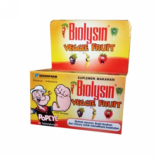 BIOLYSIN VEGGIE & FRUIT BOX 30 TABLET