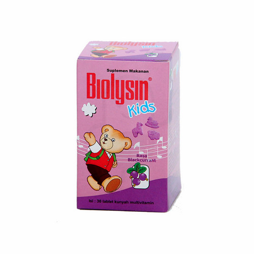 BIOLYSIN KIDS BLACKURRANT BOTOL 30 TABLET