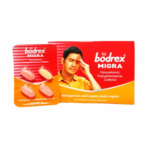 BODREX MIGRA STRIP 4 TABLET