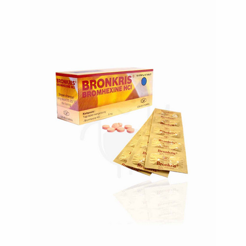 BRONKRIS 8 MG STRIP 10 TABLET