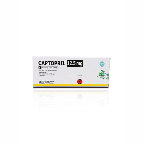 CAPTOPRIL HEXPHARM 12.5 MG TABLET