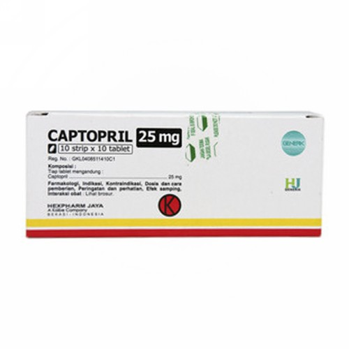 CAPTOPRIL HEXPHARM 25 MG TABLET BOX