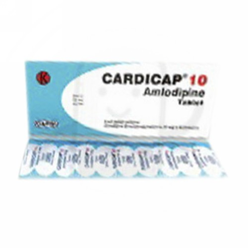 CARDICAP 10 MG TABLET BOX