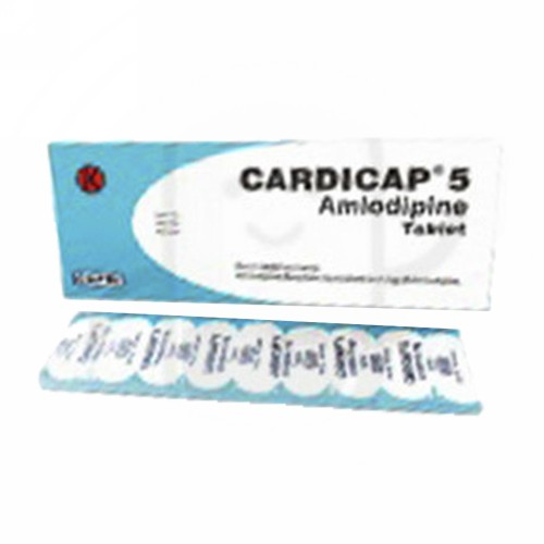CARDICAP 5 MG TABLET STRIP