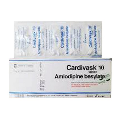 CARDIVASK 10 MG TABLET BOX