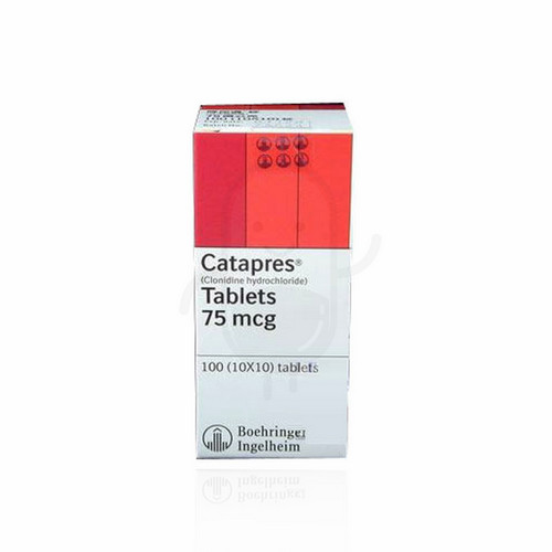 CATAPRES 75 MG TABLET BOX