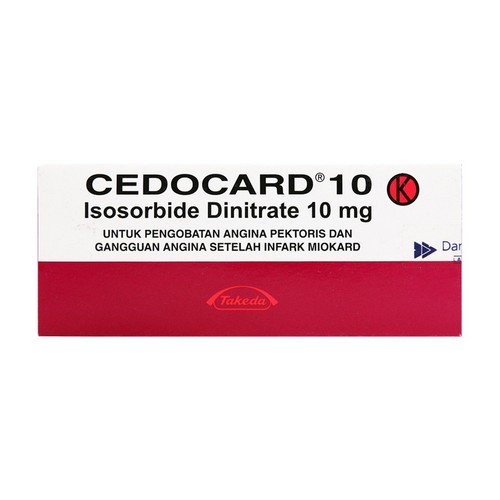 CEDOCARD 10 MG TABLET BOX