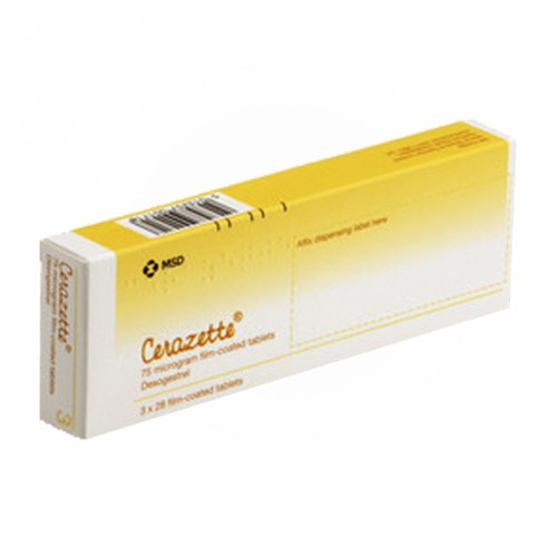CERAZETTE 75 MCG TABLET BOX