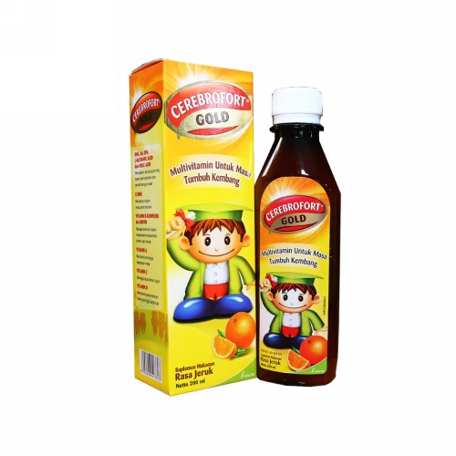 CEREBROFORT GOLD RASA JERUK SIRUP 200 ML
