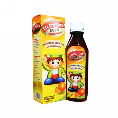 CEREBROFORT GOLD RASA STRAWBERRY SIRUP 200 ML