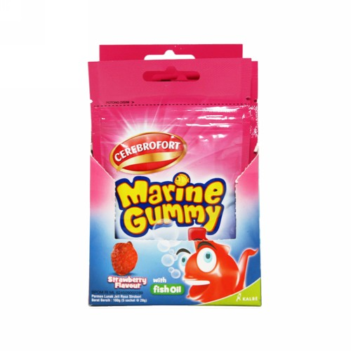 CEREBROFORT MARINE GUMMY STRAWBERRY SACHET 10 TABLET