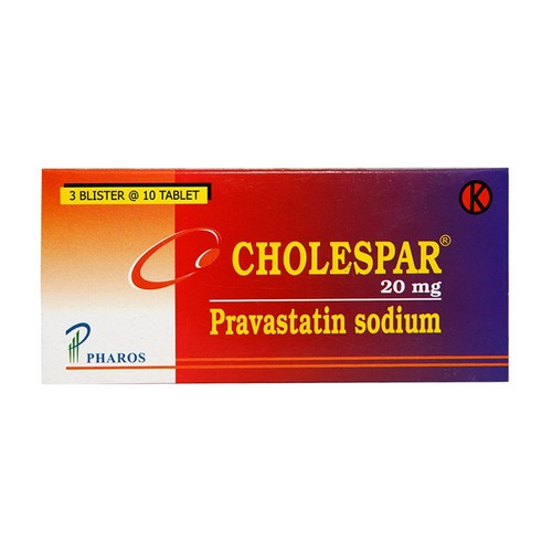 CHOLESPAR 20 MG TABLET STRIP