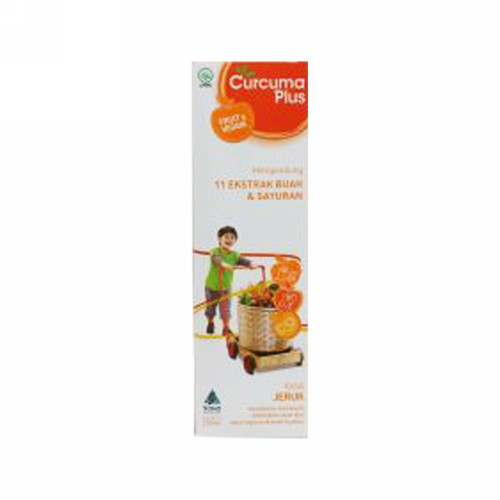 CURCUMA PLUS FRUIT & VEGGIE RASA JERUK SIRUP 200 ML