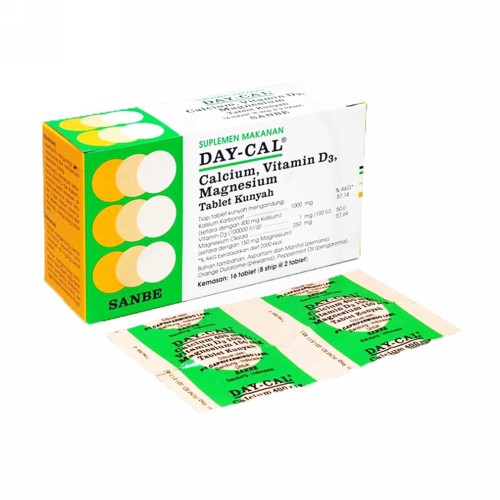 DAY-CAL CHEWABLE BOX 16 TABLET