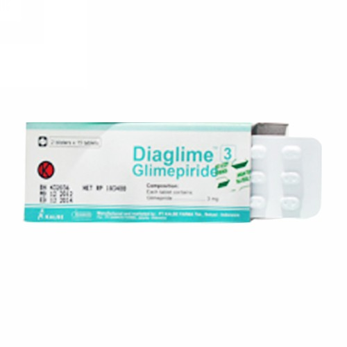 DIAGLIME 3 MG TABLET STRIP