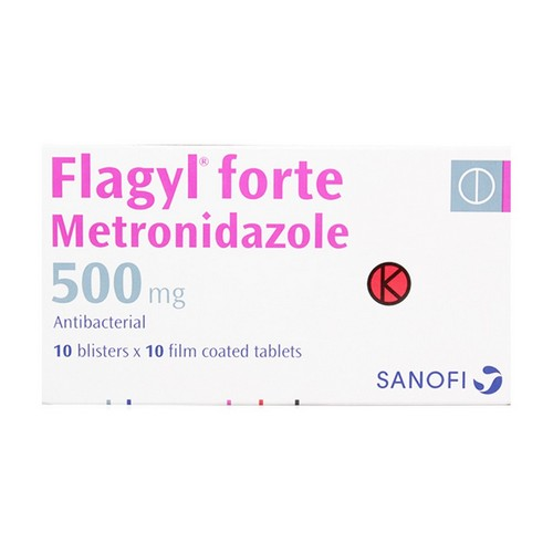 FLAGYL 500 MG TABLET BOX