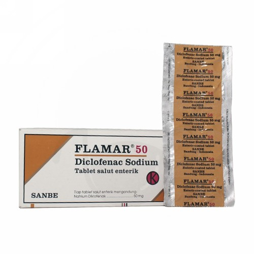 FLAMAR 50 MG TABLET BOX