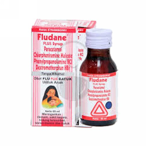 FLUDANE PLUS ANAK RASA STRAWBERRY SIRUP 60 ML